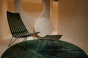 <b>TIDLØST:</b> Tendensene går i retning tidløse produkter og design som varer, slik som stolen og skammelen fra Fjordfiesta. Teppet er nytt design fra Volver/Ksenia Stanishevski/Kristine Bjaadal.