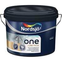 Nordsjö One Super Tech er gjort selvrensende. Du må fortsatt vaske huset, men fett og skitt vil sette seg mindre fast.