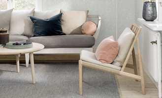 Tepper, farger, gulv og lys kan brukes til mer enn dekorasjon. Det er også en praktisk måte å dele inn rommet i mindre soner.