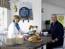 Hanne og Jan Rommetveit – veldig fornøyde eiere av et forvandlet hyttekjøkken.
