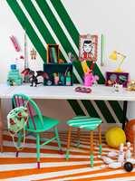 Stolben i dip dye i mer fargerike varianter passer perfekt på barnerommet!