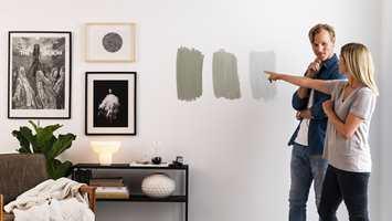 <b>ENKLERE VALG: </b>Nesten halvparten av alle som skal male om vegger hjemme er usikre på hvilken farge de skal velge og mangler selvtillit i valgsituasjonen. Med Nordsjö Colour Tester er det lett å prøve seg frem blant de 49 mest brukte fargene.