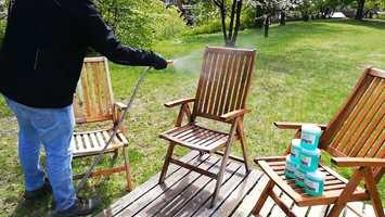 HOLD FUKTIG: Midlet skal ikke tørke inn. Dusj lett med vann eller påfør mer Power-Gel hvis det ser ut til å bli tørt.