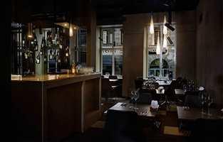 <b>TEPPEGULV:</b> Restaurant Snapphane i Malmö har valgt teppefliser fra Interface.