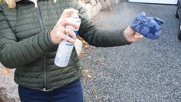 spray med 20 cm avstand