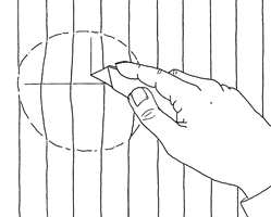 Metode 2: Med tapetkniv