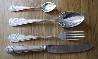 Sølvtøy før pussing