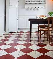 <b>MAL RUTER:</b> Imponer deg selv og familien med ruter på gulvet.