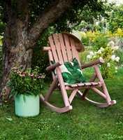 <b>ROSA:</b> En stol og en farge som innbyr til avslapping, drøm og luftige tanker.