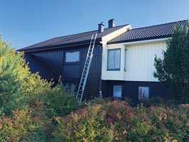 <b>FORANDRING FRYDER:</b> Forandringen var stor, til det bedre, da huset endelig ble malt.