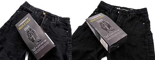 <b>FØR OG ETTER:</b> Forskjellen er påtagelig. Herdins Wash it Back Black gir fargen tilbake til utvasket sort tøy.