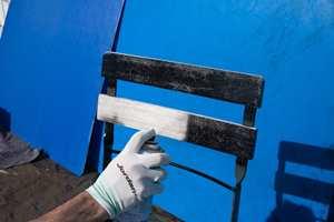 Quick Bengalack Rett på rust fungerer også på tre.