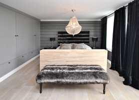 Gulvet passer til alle rom, også soverommet.