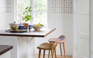 <b>KJØKKENTAPET:</b> Med tapet på kjøkkenet står du fritt til å skape den atmosfæren du ønsker ved frokostbordet. (Foto: Borge)