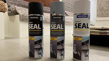 Tette hull med Spray Seal