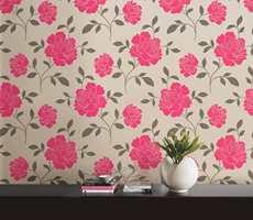 Cerice er en morsom farge å bruke i interiøret. Dette bildet er fra Storeys sin kolleksjon Layla.