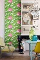 Sommerlig og sorgløst hele året med grønt og rosa på veggen. Mariska Meijers/Storeys
