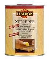 Stripper fra Alanor kan fjerne maling fra tre, metall og mur.