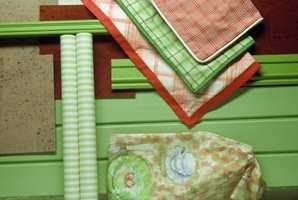 Produktcollage hjelper å se fargesammensetninger og materialfølelse før du pusser opp.