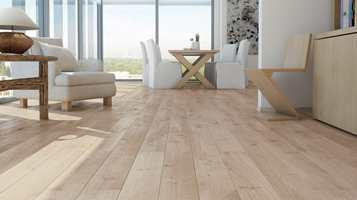I stuen bør gulvet skape hyggelig atmosfære både estetisk og akustisk. Det får gjerne være varmt og godt å gå på.