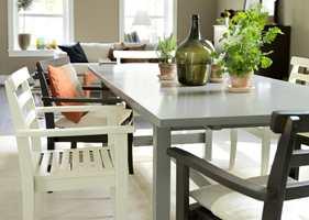 Et nymalt bord kan gjøre underverker på kjøkkenet. (Foto: Beckers)