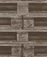 Dette vinyltapetet fra kolleksjonen Factory Style/Borge har både utseende og kvaliteter som tåler litt medfart.