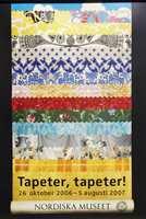 Tapeter, tapeter! Fra utstillingen om tapetets historie på Nordiska Museet.