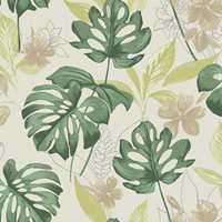 I kolleksjonen Panama fra Storeys finnes det bladmønster i flere farger.