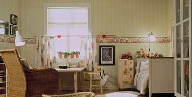 Tapetborder blir ofte brukt på barnerommet.