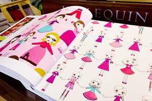 Harlequin lager flotte barnekolleksjoner i papirkvalitet. Bøkene inneholder både tapeter og matchende tekstiler.