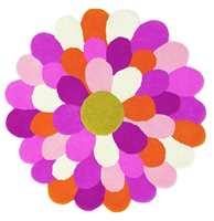 Funky Flower: En utklipt blomst i kombinasjon med saftige farger, appellerer til jenter i alle aldre.