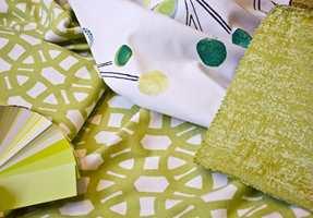 Tekstiler fra Tapethuset og en fargevifte full av muligheter.