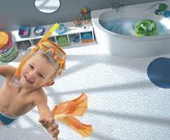 Bad er et spesielt rom ettersom man her bør bruke en spesiell våtromsvinyl. Også her utvikles det mønstre spesialtilpasset miljøet.