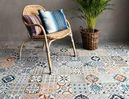 Kombinerer du de tre variantene av vinylgulvet Starfloor Click Retro fra Tarkett, kan du enkelt lage deg et personlig, marokkansk gulv.
