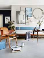 DISKRET:</b> Med klikklinoleum, som Marmoleum Click fra Forbo Flooring, er mulighetene mange. Her kan du sette sammen fliser i ulike farger akkurat som du vil. Kanskje du kan lage et diskret teppe under sofaen?