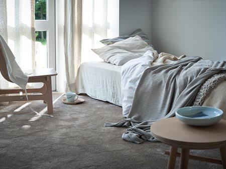 64f3f9f1 07. juli 2019 Innendørs · Hverdagsluksus med teppe på soverommet