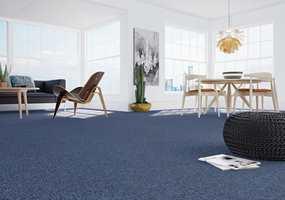 <b>PRAKTISK OG PENT:</b> Det er både praktiske og estetiske grunner til å velge teppe i stua. (Foto: Danfloor)