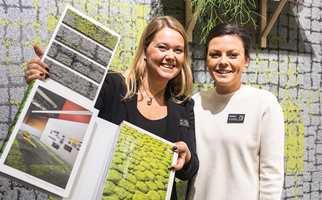 Teppefliser inspirert av urban natur skal motvirke et «teknologisk interiør». – Vi vil skape naturlige møteplasser og knytte folk sammen, sier teppeekspert Laila Berg Nygaard.