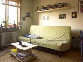 Gammel sovebenk blir erstattet av hems.