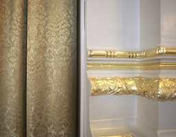 Tekstilene er tilpasset stilen ellers i festsalen.