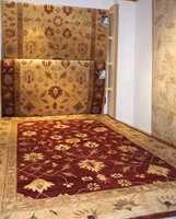 Naturmønstre i beige og bruntoner.