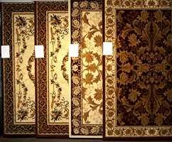Dagens tepper som i stor grad har erstattet de såkalte persisk mønstrede.