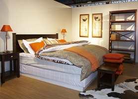 Alt på ett sted - en romløsning i Bohus-konseptet - med flere alternativ av sengetekstiler.