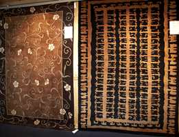 Håndknytt igjen - her med typiske ornamentmønstre, men også mer eksotiske innslag.