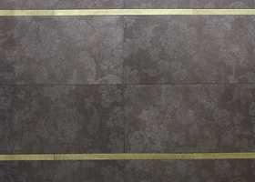 Tekstilmønstre (damask) innprodusert i flis - med gulldekor. (Inalco og MegaFlis).