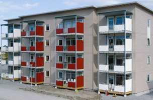 Modulbygging av i dag - her leilighetsbygg i fire etasjer.