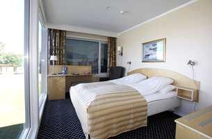 Utstillingsmodul bestående av hotellrom med bad, fra Rica Travel Hotell Gardermoen.