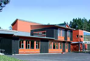 Komplett skole: Et eksempel på at modulbygg kan produseres helt individuelt. Her fra Askimbyen skole.