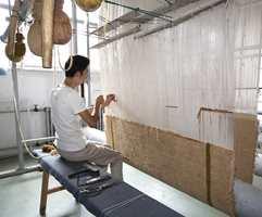 Klassisk håndvev. Slik foregår produksjonen den dag i dag.