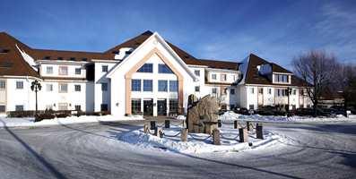 Fasaden til Olavsgaards kurs- og konferanseavdeling.